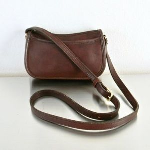 Vintage Coach Leather Wendie Brown Crossbody Bag